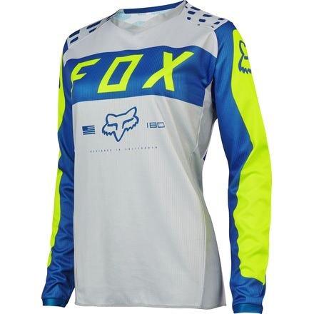 2017 FOX Racing MX Motocross 180 Women's Jersey Grey / Blue Large (Fox Jersey Mx)