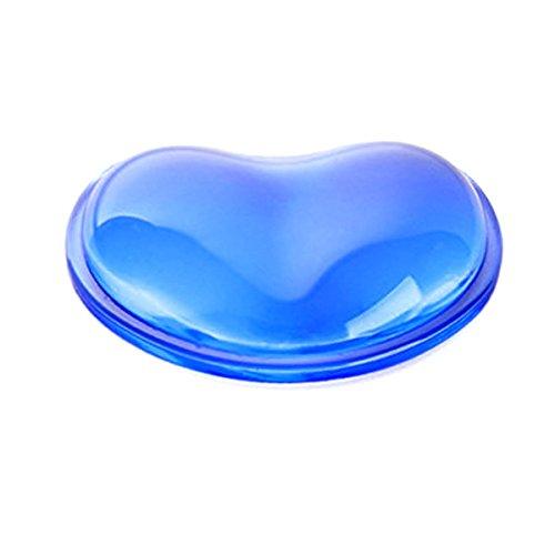 Cojín de gel de silicona para reposamuñecas con forma de corazón para mouse ergonómico y translúcido, almohada de mano...