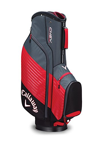 Callaway Golf Chev Cart Bag Golf Bag Cart 2017 Chev Black/Red/Titanium