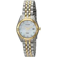 Citizen Women's Quartz Stainless Steel Casual Watch, Color:Two Tone (Model: EU6054-58D)