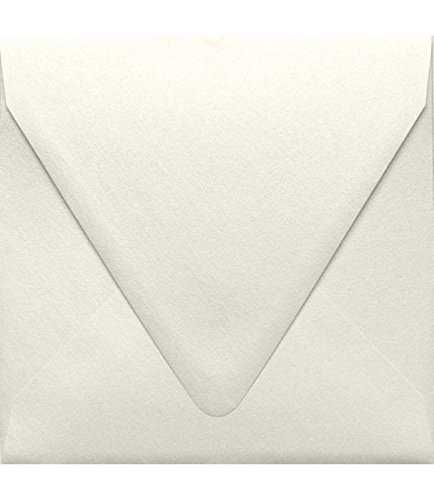 6 1/2 x 6 1/2 Square Contour Flap Envelopes - Quartz Metallic (50 Qty) | Perfect for Invitations, Announcements, Greeting Cards, Photos | 1855-08-50 (Save The Date Announcements For Corporate Events)
