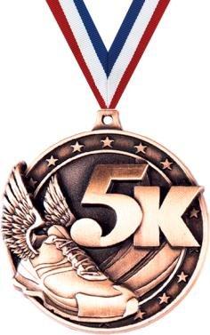 クラウンAwards 5 K Medals – ブロンズ5 K Raceメダル、Running Medals withネックリボン B07FMDFQH6  50