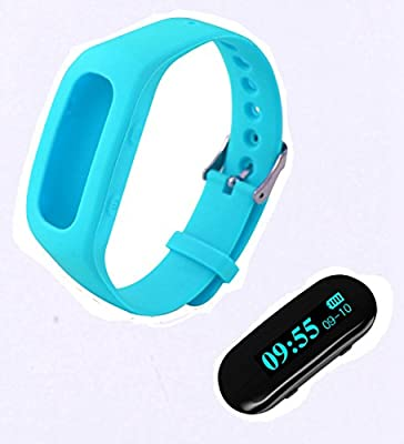 Generic Adjustable Sleek Silicon Sports Activity Tracker for Iphone Andriod (Blue)