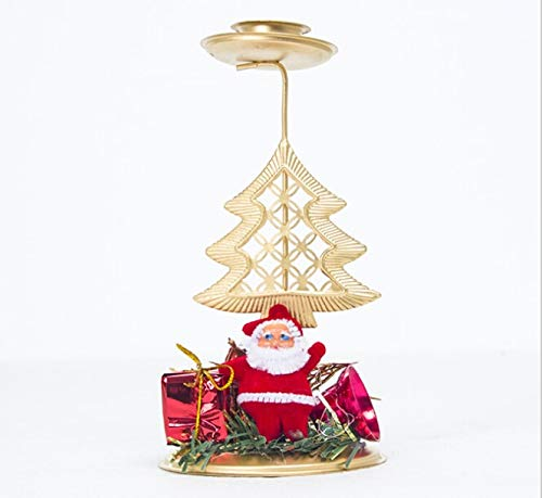 Santa Candle Xmas Design Creative Hollow Candle Stand Santa Tree Candle Holder Candlestick Home Decor Christmas Candle Holders Brand New