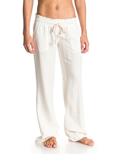 Roxy Junior's Ocean Side Pant, White, Medium (Beach Clothing For Women compare prices)