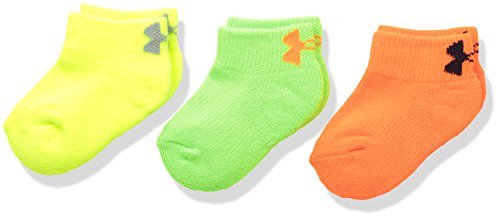 Under Armour Lowcut Socks (3 Pack), Toddler(4 - 5.5), Blaze Orange Assortment