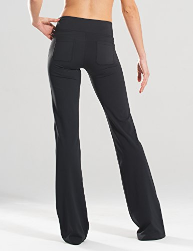 "Safort (28""/30""/32""/34"" Inseam Regular/Tall Bootcut Yoga Pants, Four Pockets, Long Bootleg, Flare Pants, Black, L by Safort (Image #5)"