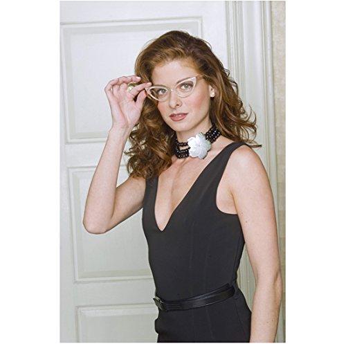 Will & Grace (TV Series 1998-2006) 8 Inch x 10 Inch Photo Debra Messing Black Dress & Cat's Eye Glasses Pose 2 kn PHOTOGRAPH
