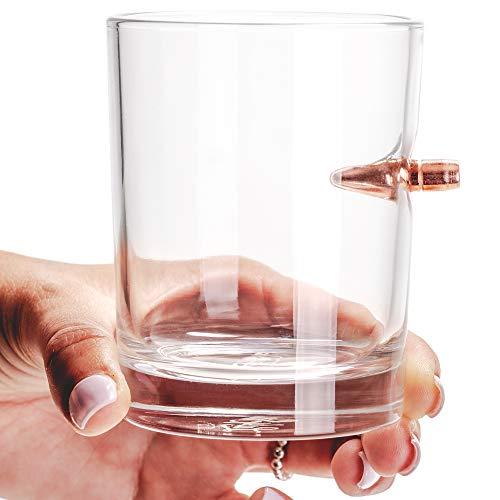 Lucky Shot .308 Real Bullet Handmade Whiskey Glass - http://coolthings.us