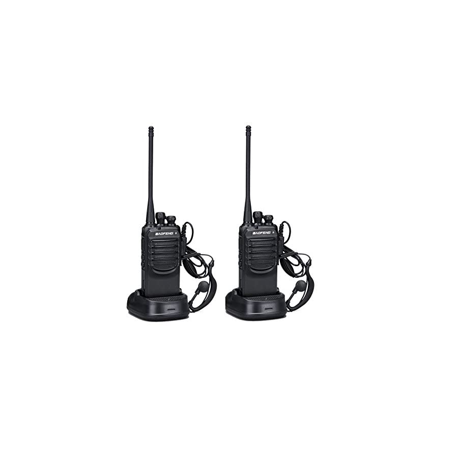 Walkie Talkies 2 Ways Radio Long Range and Reachargeble Baofeng BF 888SA 2 Packs with Earpieces Mic for Adults Trolling Camping Hiking Hunting Travelling