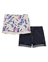 VIGOSS Girls' 2-Pack Shorts