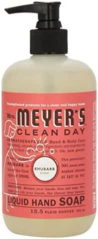 Mrs Meyers Hand Soap Rhubarb 12.5 Ounce Pump (370ml) (3 Pack)