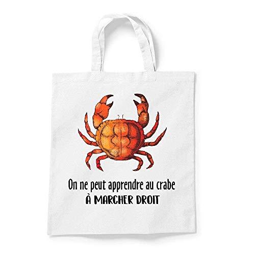 On Gs droit crabe marcher au peut ne kase My a Coton pas apprendre Blanc Tote vOFIcqE