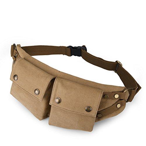 de ocio Paquete la al multifunción de la libre Bandoleras lona bolso Bumbag Pack A moda los de de hombres aire Pecho B Cruz deportes De fHqxO0wt