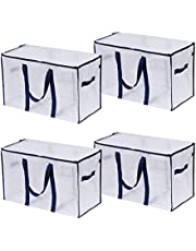 VENO Extra Large Moving Bags with Zippers & Carrying Handles, Heavy-Duty Storage Tote for Space Saving Moving Storage