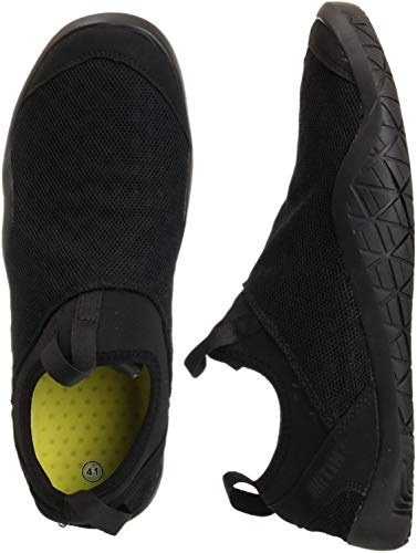 WHITIN Men's Quick Drying Water Shoes for Aqua Hiking Trail Running Sport Minimalist Barefoot Wave Walking Beach Swim Surf Outdoor Kayaking Athletic Male Black Size 10