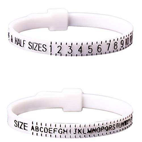 - IslandseUS UK Measures Ring Sizes with Guide Including Ring Size Chart for Men and Women White