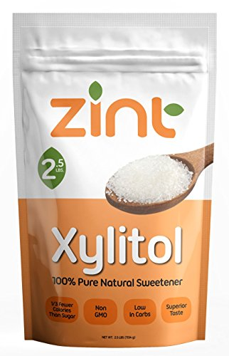 Zint Xylitol: Non-GMO, All-Natural Sweetener and Sugar Substitute (2.5lb)