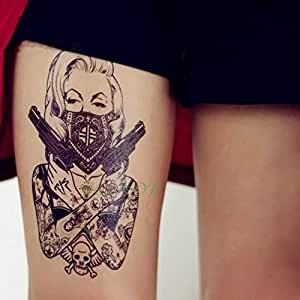 ljmljm 5pcs Impermeable Tatuaje del Cuerpo Etiqueta en 3D Robot de ...
