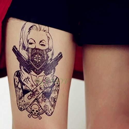 6pcs Tatuaje Impermeable Lobos Etiqueta Jon Lobo de la Nieve ...