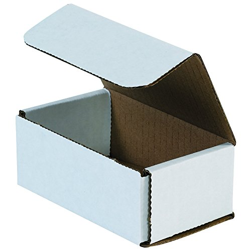 Boxes Fast BFM532 Corrugated Cardboard Mailers, 5 x 3 x 2 Inches, Tuck Top One-Piece, Die-Cut Shipping Cartons, Small White Mailing Boxes (Pack of (Corrugated Cardboard Die Cut)