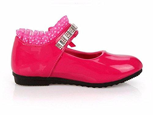 TPulling Mode Herbst Und Frühling Kinder 1T-6T Mädchen Diamant Süße Kinder Bogen Strass Tanzen Prinzessin Sandalen Schuhe Sportschuhe Rutschfeste Turnschuhe Lässige Schuhe Pink