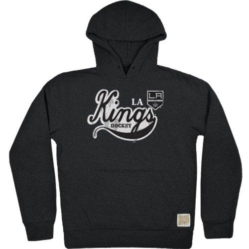 Original Retro Brand NHL Los Angeles Kings Men's Tri-Blend Fleece Hoodie, XX-Large, Black