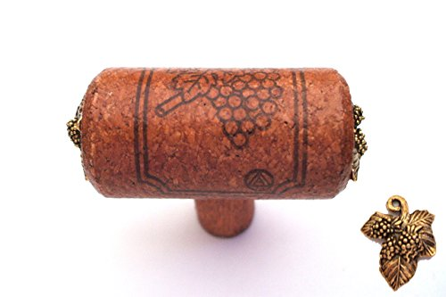 Chianti Series - WINE CORK KNOBS - Grape Leaf Accent ()