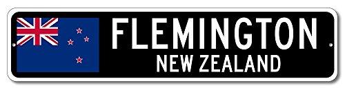 New Zealand Flag Sign - FLEMINGTON, NEW ZEALAND - Kiwi Custom Flag Sign - 9