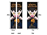 Wesource Halloween 3D Horror Door Sticker Scene Window Door Art Decor