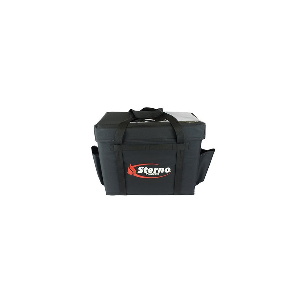 Sterno 70532 Black 13 x 22 x 17.75 Deluxe Insulated Food Carrier