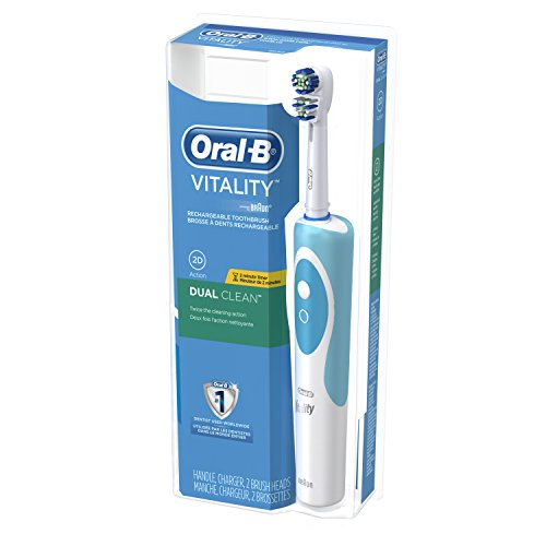 oral b vitality dual clean electric rechargeable toothbrush. Black Bedroom Furniture Sets. Home Design Ideas