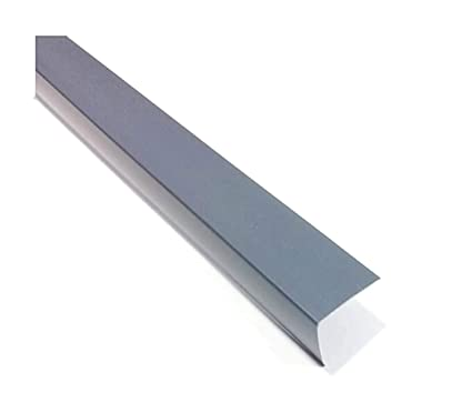 Grey Plastic 2 5 Meters PVC Corner 90 Degree Angle Trim Wall Corner Guard  Edge Protector TMW Profiles (50mm x 50mm x 2 5M)