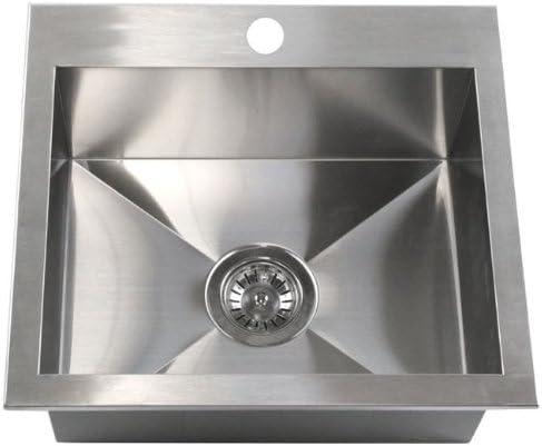 19 x 17 Single Bowl Kitchen Sink