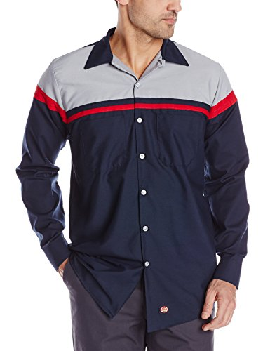 (Red Kap Men's Performance Tech Shirt, Navy/Red/Light Grey, X-Large )