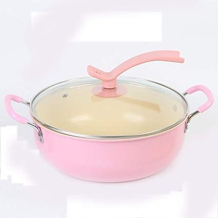 Hornillo de acero inoxidable para wok de color rosa.: Amazon ...