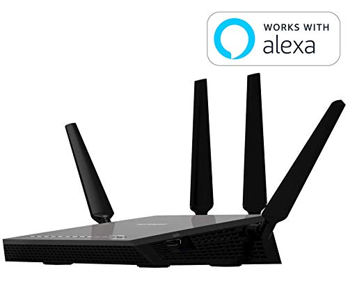 Netgear R7500-200NAS Nighthawk X4 Ultimate Gaming Router - AC2350 4X4 MU-MIMO Dual Band WiFi Gigabit Router (R7500v2) with Open Source Support. Compatible with Amazon Echo/Alexa from NETGEAR