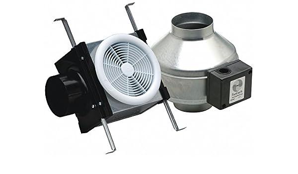 Fantech PB190 Inline Ventilador de escape, 190 CFM, Kit de baño ...