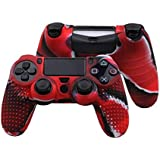 Red  Anti-slip Silicone Rubber Cover Skin Case for Sony PlayStation 4 PS4