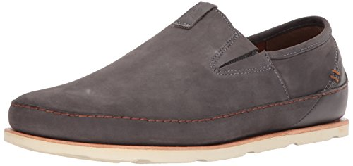Chaco Mens Thompson Slip Driving Style Mocassino Grigio Scuro Gabbiano