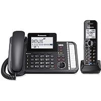 KX-TG9581B Panasonic Link2Cell KX-TG9581B DECT 6.0 Cordless Phone - Black - Corded/Cordless - 2 x Phone Line - 1 x Handset - Answering Machine - Caller ID