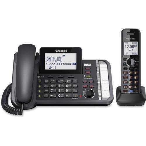 KX-TG9581B Panasonic Link2Cell KX-TG9581B DECT 6.0 Cordless Phone - Black - Corded/Cordless - 2 x Phone Line - 1 x Handset - Answering Machine - Caller ID