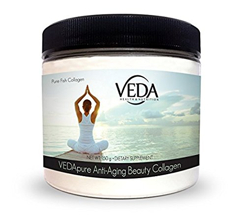 VEDApure Anti-Aging Beauty Collagen, 100% Pure Fish Collagen (150 grams)