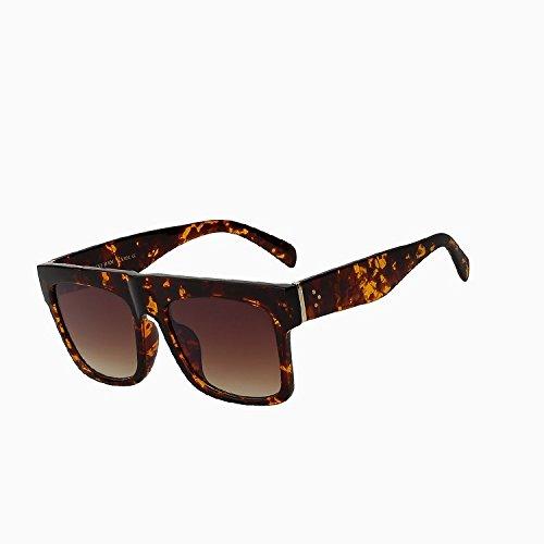 Lunettes de haute soleil femmes Oculos Tianliang04 Lunettes de UV400 large qualité brown lens soleil carré nbsp;vintage femelle Leopard plat de Lunettes dessus ItqXa8