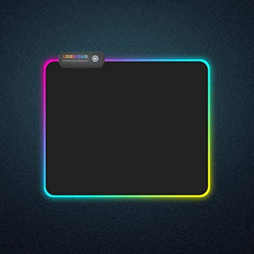 AFANG MONTIAN Colorful LED Light Thickening Lock Keyboard Pad Game Mouse Pad Size:300 x 250 x 4mm
