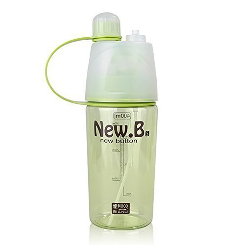 Yapping 400ML Outdoor Sports Plastic Cup Spray Water Bottle Summer Students Personality Kettle (400ML-Green)