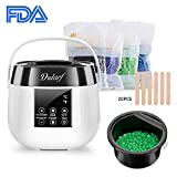 Face Epilator Stick - Wax Warmer, Dularf Waxing Heater for Hair Removal LCD Display Wax Pot Hair Waxing Kit with 20 Wax Applicator Sticks and 4 Flavor Hard Wax Beans for Face Legs Body Bikini Lines