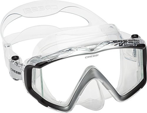 Gear Black Scuba Dive Mask - Cressi Liberty Triside Spe Diving Mask, Clear/Black/Silver