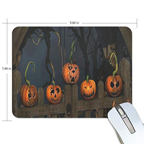 Mouse Pad Halloween Pumpkin Lantern Tree Gaming Mousepad Cheap Small Thick Mouse Mat Black Cool Mouse -