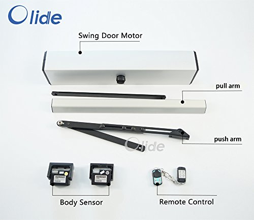 Olide SW-100 Automatic/Electric Swing Door Opener With Two Passive Infrared/Body/Motion Sensors